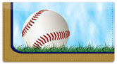 Blue & Gold Baseball Fan Checkbook Cover