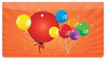 Party Balloon Checkbook Cover