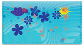 Cute Blue Flower Checkbook Cover