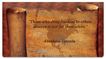 Patriotic Quote Checkbook Cover
