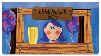 Lemonade Stand Checkbook Cover