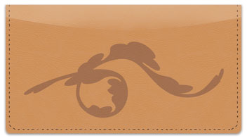 Unfurling Branch Checkbook Cover