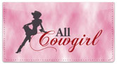 Rodeo Cowgirl Checkbook Cover