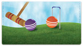Croquet Checkbook Cover