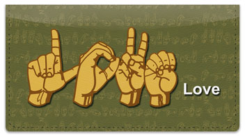 Sign Language Checkbook Cover