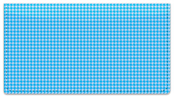 Blue Houndstooth Checkbook Cover