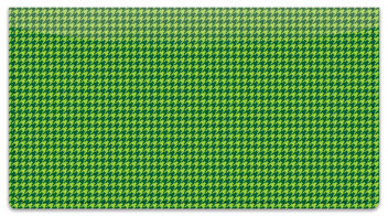 Green Houndstooth Checkbook Cover