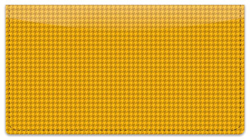 Yellow Houndstooth Checkbook Cover