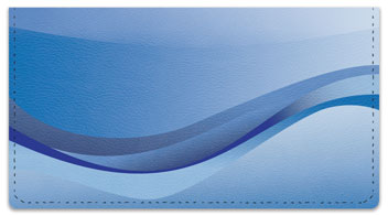 Blue Wave Checkbook Cover