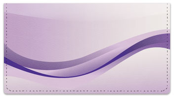 Purple Wave Checkbook Cover