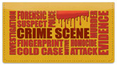 Crime Scene Checkbook Cover