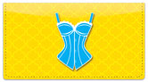 Cute Corset Checkbook Cover