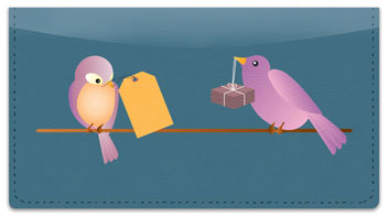 Messenger Bird Checkbook Cover