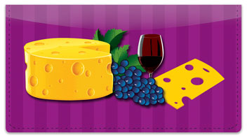 Wine & Cheese Checkbook Cover