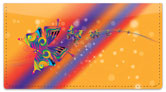 Psychedelic Butterfly Checkbook Cover