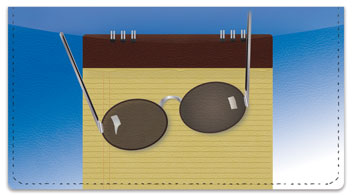 Sunglasses Checkbook Cover