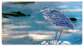 Blue Heron Checkbook Cover