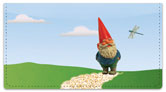 Garden Gnome Checkbook Cover