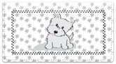 Cute Cat & Dog Checkbook Cover