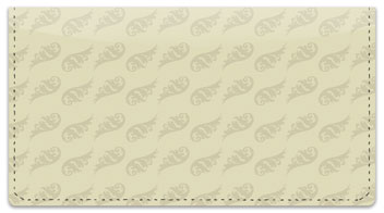 Beige Beauty Checkbook Cover