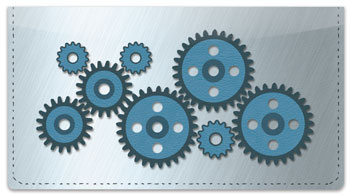 Turning Gear Checkbook Cover