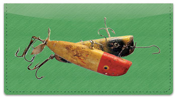 Lucky Fishing Lure Checkbook Cover