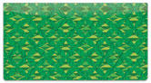 Patterns in Green Checkbook Cover
