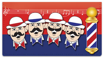 Barbershop Quartet Checkbook Cover