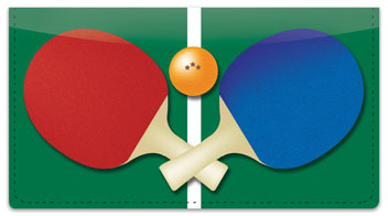 Ping Pong Checkbook Cover