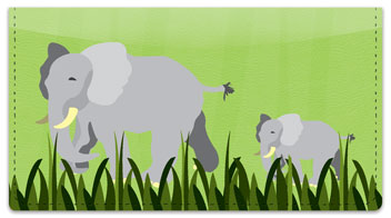 Elephant Checkbook Cover