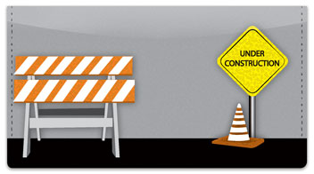 Road Construction Checkbook Cover