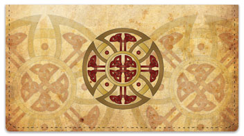Celtic Cross Checkbook Cover