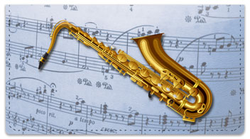 Musical Instrument Checkbook Cover