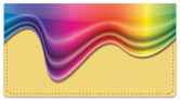 Rainbow Colors Checkbook Cover