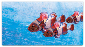 Painted Clown Fish Checkbook Cover