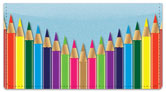 Colored Pencil Checkbook Cover