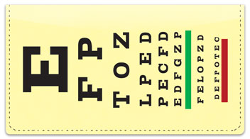 Optometry Checkbook Cover