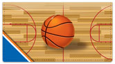 Blue & Orange Basketball Checkbook Cover