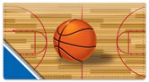 Blue & Silver Basketball Checkbook Cover