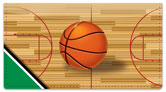 Green & Black Basketball Checkbook Cover