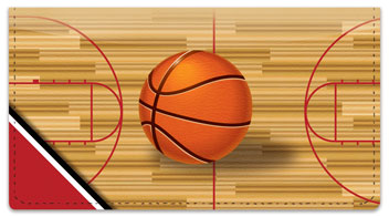 Red & Black Basketball Checkbook Cover