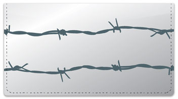 Barbed Wire Fence Checkbook Cover