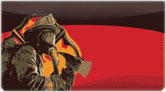 Firefighter Hero Checkbook Cover