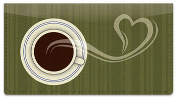 Java Love Checkbook Cover