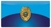 Police Checkbook Cover
