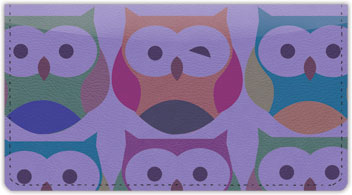 Winking Owl Checkbook Cover
