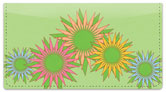 Retro Sunflower Checkbook Cover