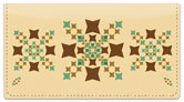 Polygon Pattern Checkbook Cover