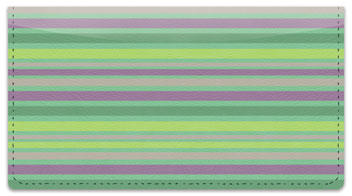 Horizontal Stripe Checkbook Cover