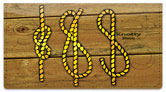 Knot Tying Checkbook Cover